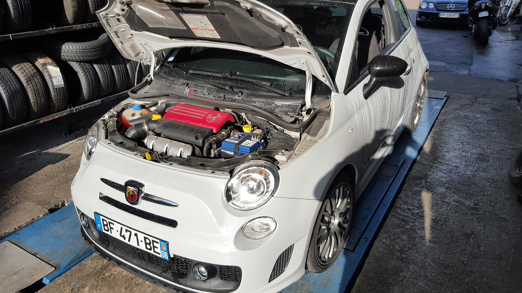 reprogrammation moteur var fiat 500 par SAE Performance